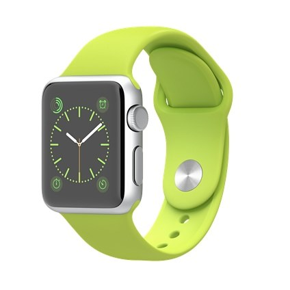 Apple Watch Sport 38mm Silver Aluminum Case with GreenSport Band