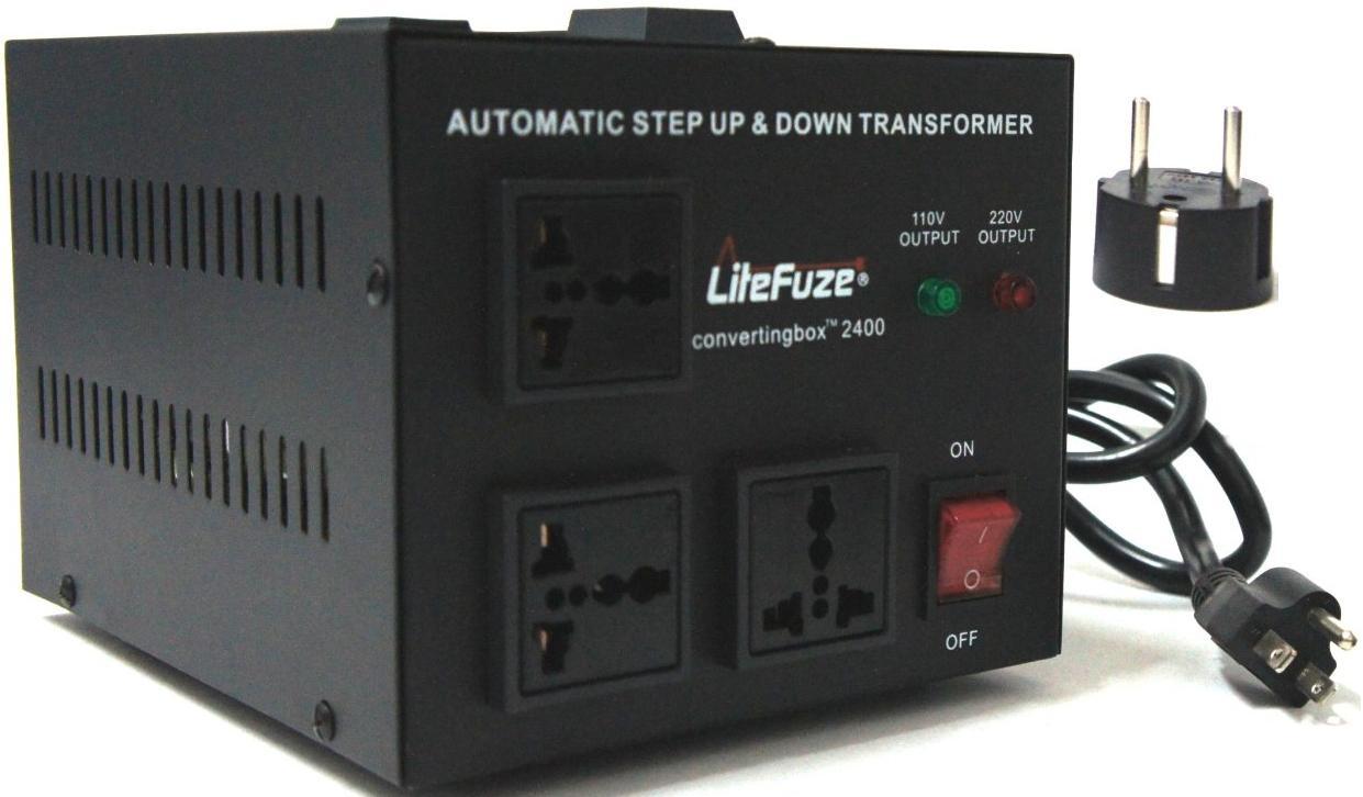 LiteFuze convertingbox 1500 Watt Voltage Converter Transformer Premium Blue