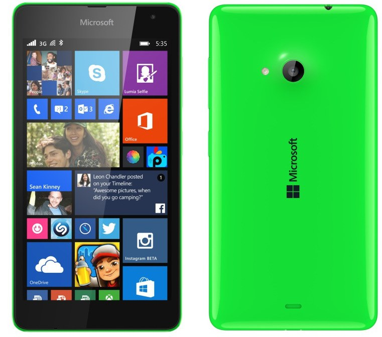 Lumia-535_Back_Green