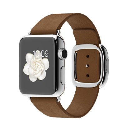 brown-modern-buckle-apple-watch